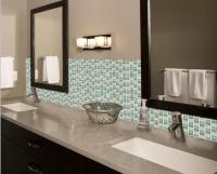 crystal glass mosaic tile backsplash bathroom mirror wall ...