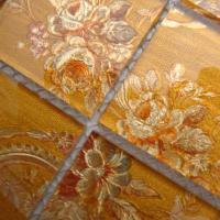 glass mosaic wall art murals puzzle mosaic tile designs LH908