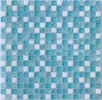 crackle glass mosaic tile backsplash blue mosaic stone ...