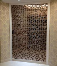 Wholesale Vitreous Mosaic Tile Backsplash Gold 304 ...