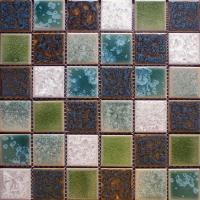Porcelain Crackle Glass Mosaic Tile Brick | Hominter.com