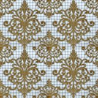 Crystal Glass Tile Golden Mosaic Pattern Design Interior