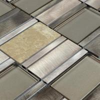 Stone Glass Mosaic Tile Stainless Steel Metal Wall Tiles ...