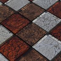 crystal glass backsplash tiles maple leaf glass mosaic ...