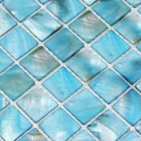 shell tiles 100% blue seashell mosaic mother of pearl ...