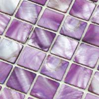 shell tiles 100% purple seashell mosaic mother of pearl ...