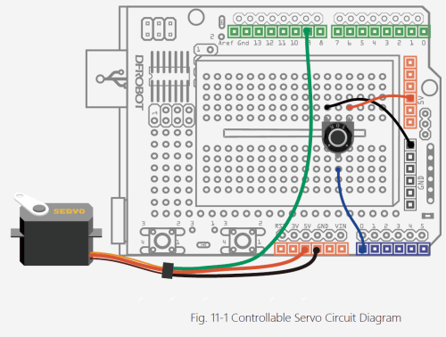small resolution of connect the side by side pins to 5v and gnd on the arduino respectively and the single pin on the opposite side of the potentiometer to the analog 0 pin on
