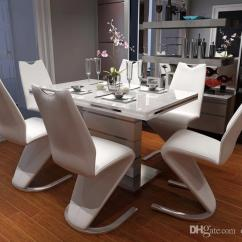 White 6 Chair Dining Table Folding Chaise Lounge Chairs New Arrival Unique Set Room Furniture Yayoom One Stop Solution Marble Online With 758 34 Piece On
