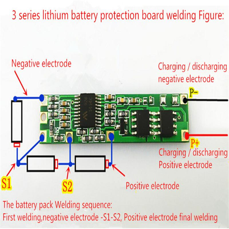 For Usb Power Pack Wiring Diagram Battery Bms Protection Pcb Board For 3 4 Packs 18650 Li
