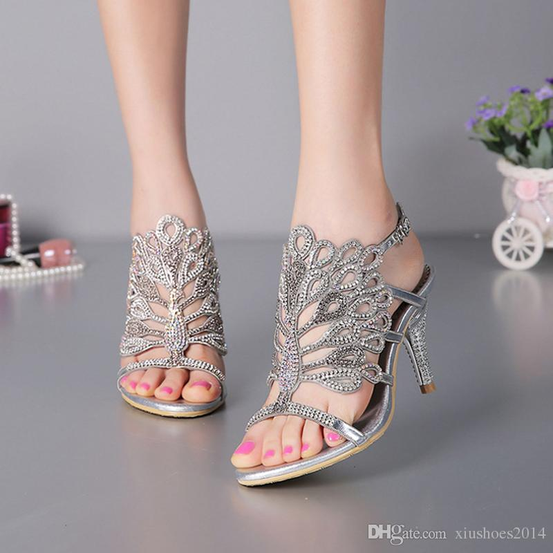 Silver Wedge Wedding Shoes