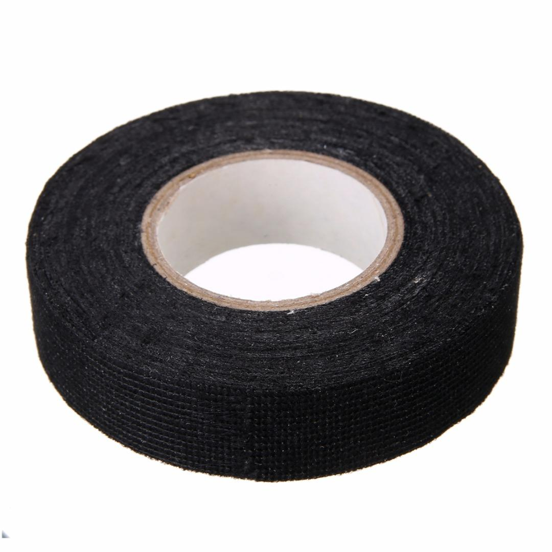 hight resolution of 1pc wiring harness tape strong adhesive cloth fabric tape for looms cars 19mm x 15m