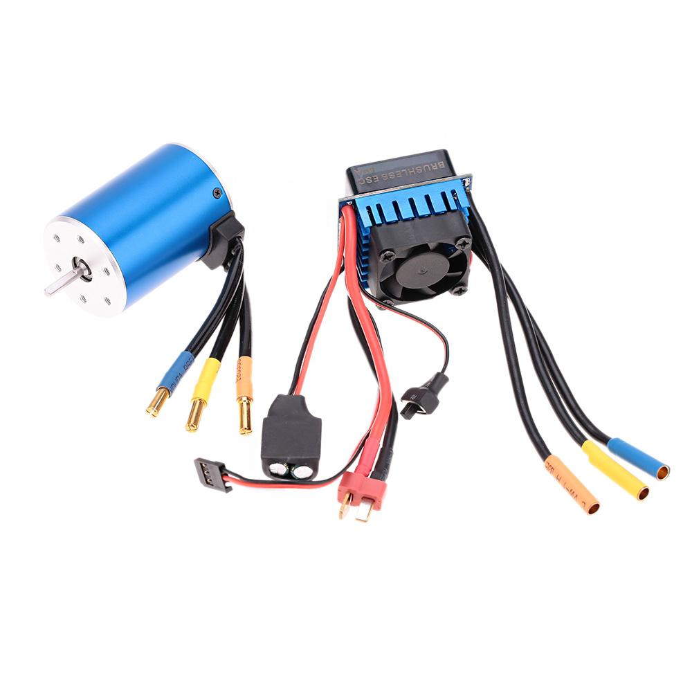 medium resolution of 2019 3650 3100kv 4p sensorless brushless motor with 60a brushless escelectric speed controllerfor 1 10 rc car truck order 18no track from nicel co ltd