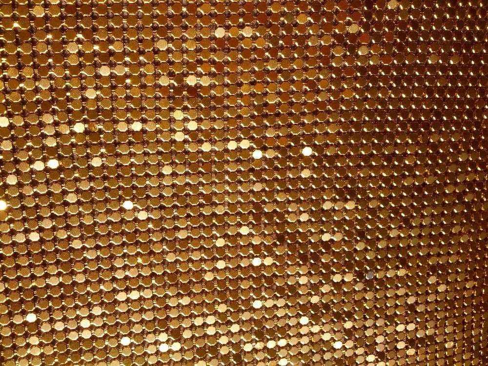 2019 Promotion Gold Metal Mesh Fabric Metallic Cloth Metal Sequin Sequined Fabric Curtain