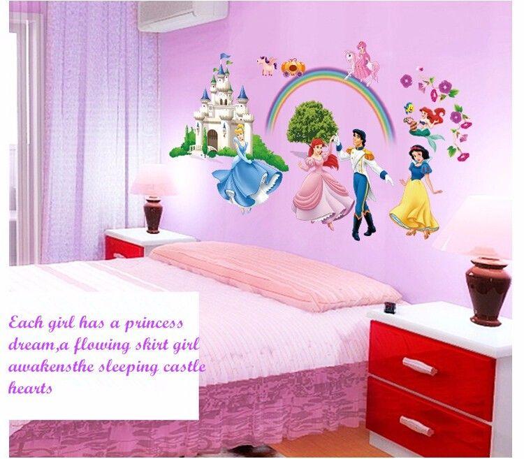 10 Design 3d Cartoon Princess Frozen Wall Sticker Childrens Party