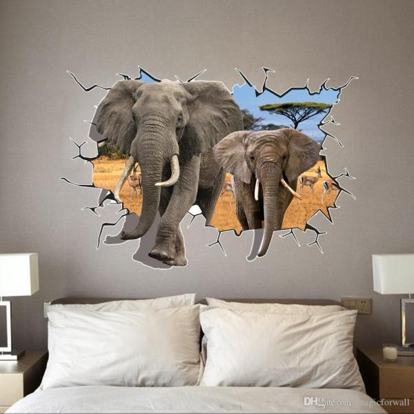 3D Wall Stickers Elephants