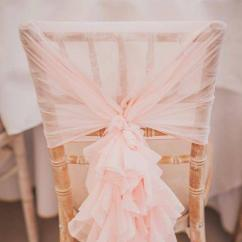 Ruffle Chair Sashes Half Back Covers For Sale 2019 In Stock 2017 Blush Pink Ruffles Vintage Romantic Beautiful Fashion Wedding Decorations 02 From Chic Cheap 3 52 Dhgate