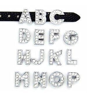 8MM Full Rhinestone Slide Letters U Z Can Choose Each