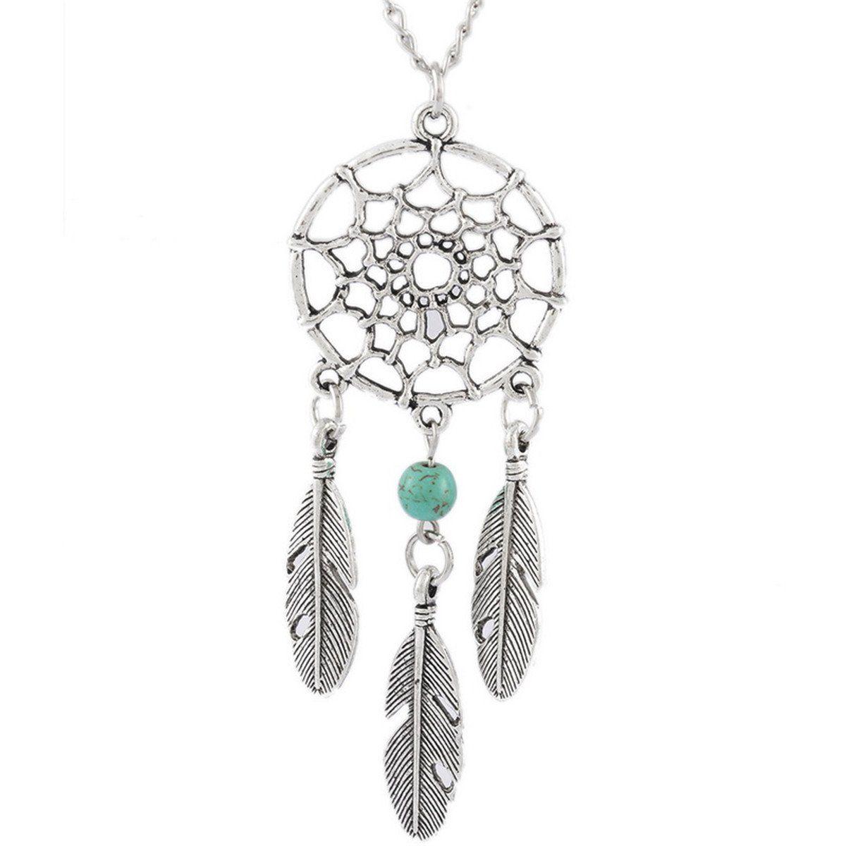 2019 Lily Fashion Dream Catcher Pendant Chain Necklace