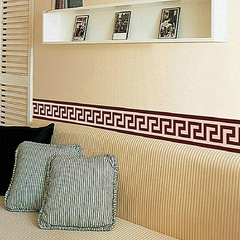 living room border design decorative wall hangings for liner sticker decor mural diy home decoration check art wallpaper graphics stickers