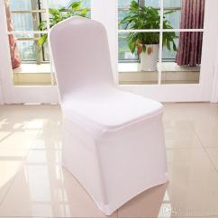 Gray Chair Covers For Weddings Office Plan Wholesale Universal Polyester Spandex Wedding Banquet Folding Hotel Decoration White Hc01 72 Dining Room Slipcover