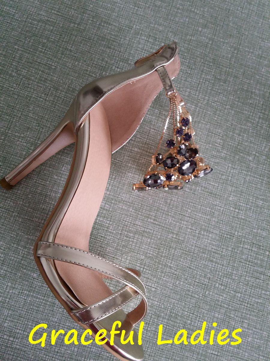 Real Photos Fashion Women Sandals Crystals Women Shoes Thin High Heel Stilettos Open Toe Wedding