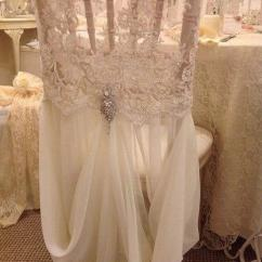 Chair Covers Ivory 2x4 Outdoor 2019 2015 Feminine Lace Crystal Beads Hand Made Romantic Chiffon Ruffles Sash Wedding Decorations Accessories From