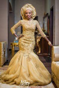 Vestido De Noiva 2015 New Style Beaded Nigerian Bridal ...