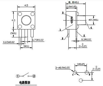 2019 Momentary Tactile Tact Push Button Switch 3 Pin Right
