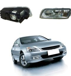 1 dc 12v 2 x fog light front per l for honda accord  [ 1000 x 1000 Pixel ]