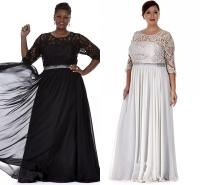 Black Silver Plus Size Mother Of The Bride Dresses ...