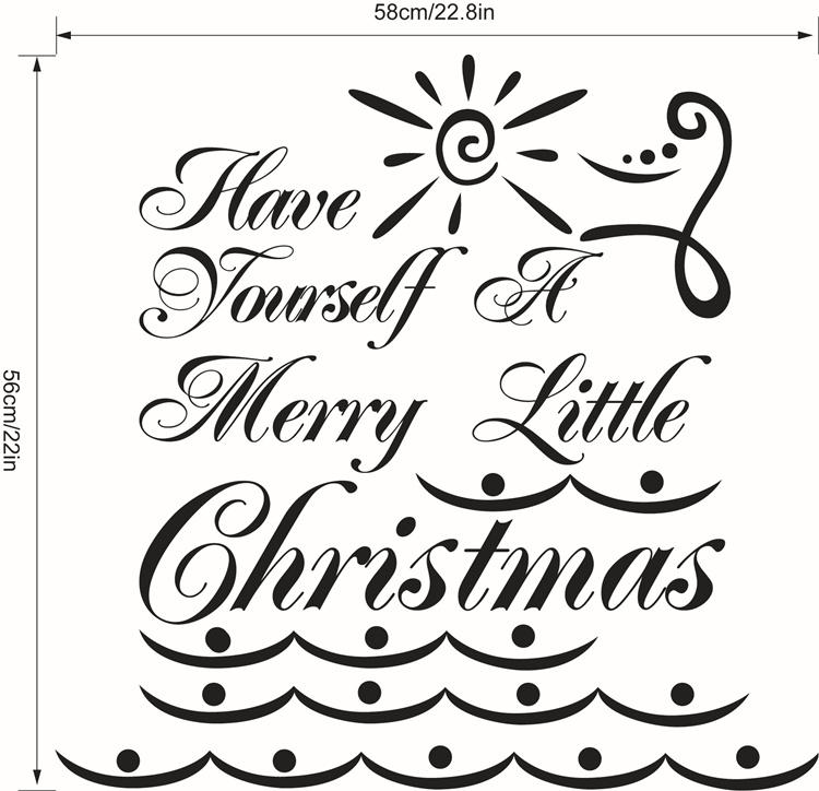 Free DHL Home Decoration Wall Decals Christmas Decorations