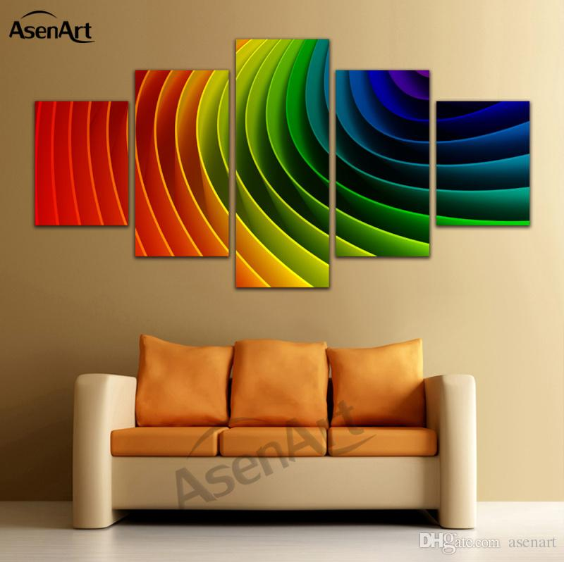 abstract rainbow paintings 5