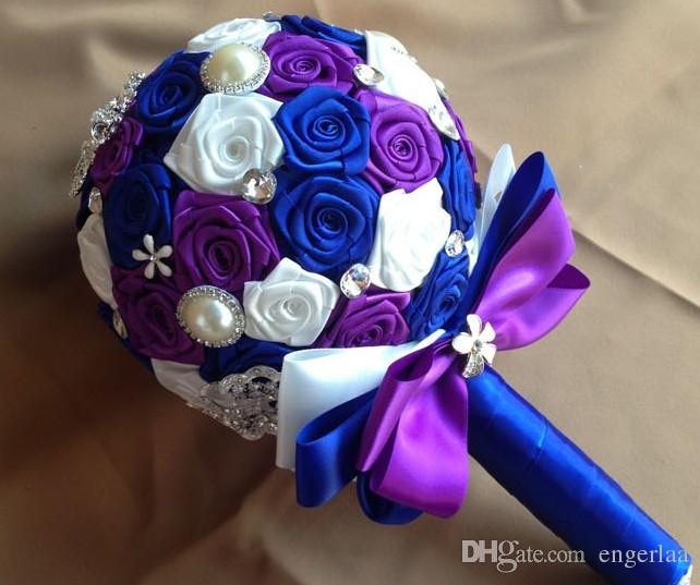 Royal Purple Wedding Flowers Alter