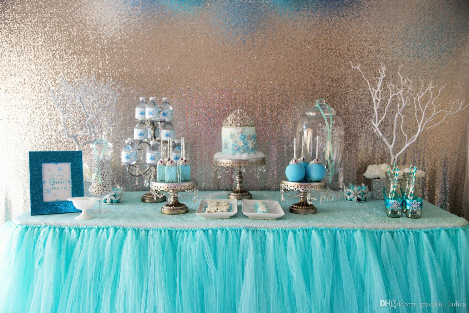 blue chair covers for weddings modern directors 2018 aqua tutu table skirt custom made wedding supplies sashes tulle party ...