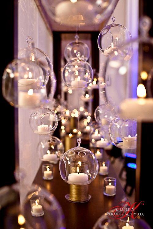 8CM Hanging Glass CandlesGlass Ball Tea Light Holders