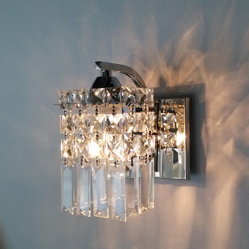 LED Crystal Wall Lamp Modern Bedroom Bedside Lamp Creative Living Room Wall Lamp Aisle Wall
