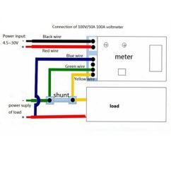 Dc Ammeter Shunt Wiring Diagram Apollo Xp95 Addressable Smoke Detector 2018 Digital Voltmeter Yb27va 0 100v/50a 2 In 1 Volt Amp Led Dual Color ...