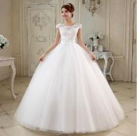 Tulle Ball Gown Wedding Dresses With Pearl 2018 White ...