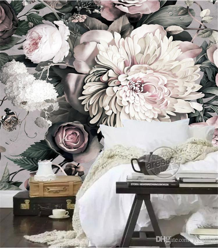 Painting And Roses White Black Room