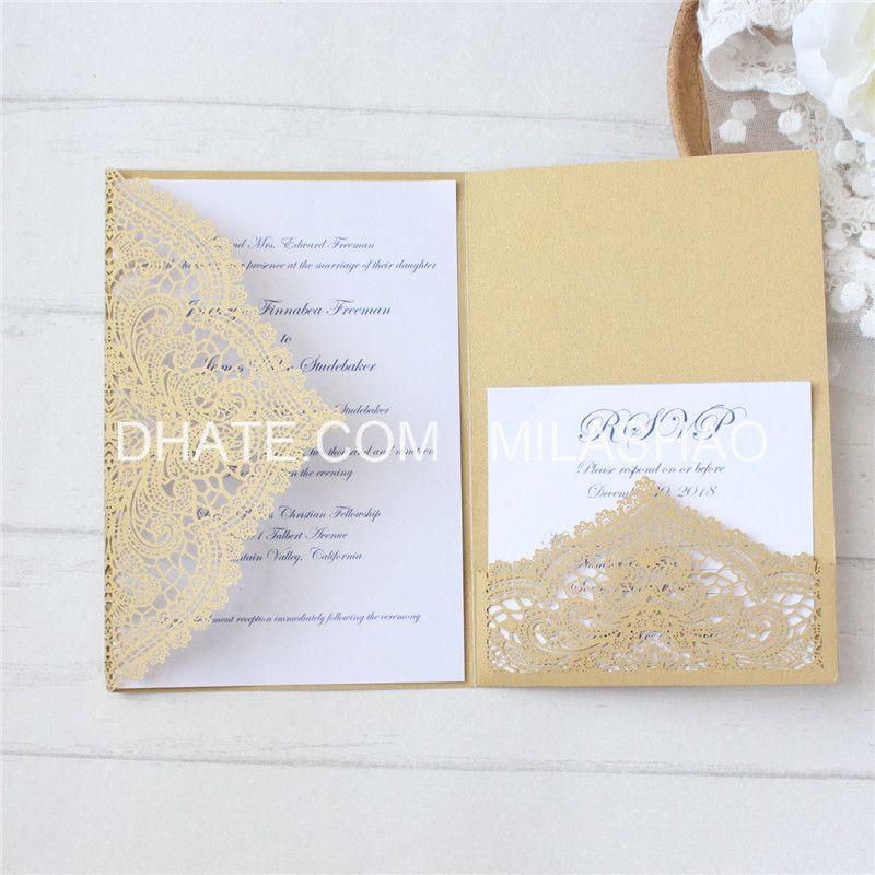 invitation laser cut wedding