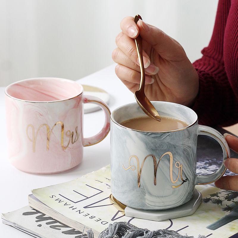 marble ceramic coffee mugs