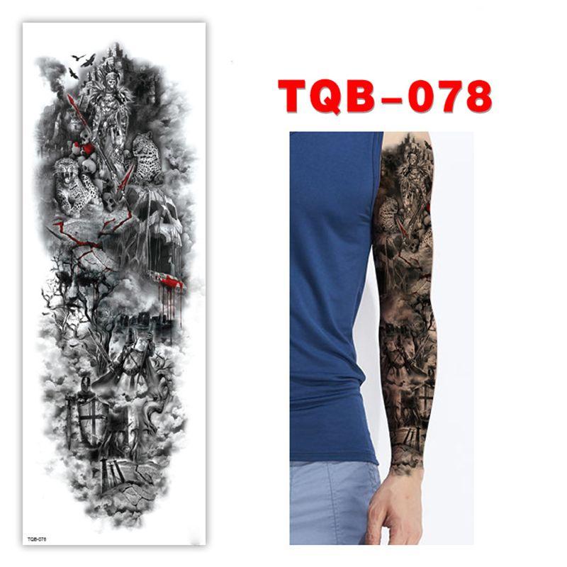 Brazo De Manga Completa Tatuaje Temporal Dragón Oriental Victory