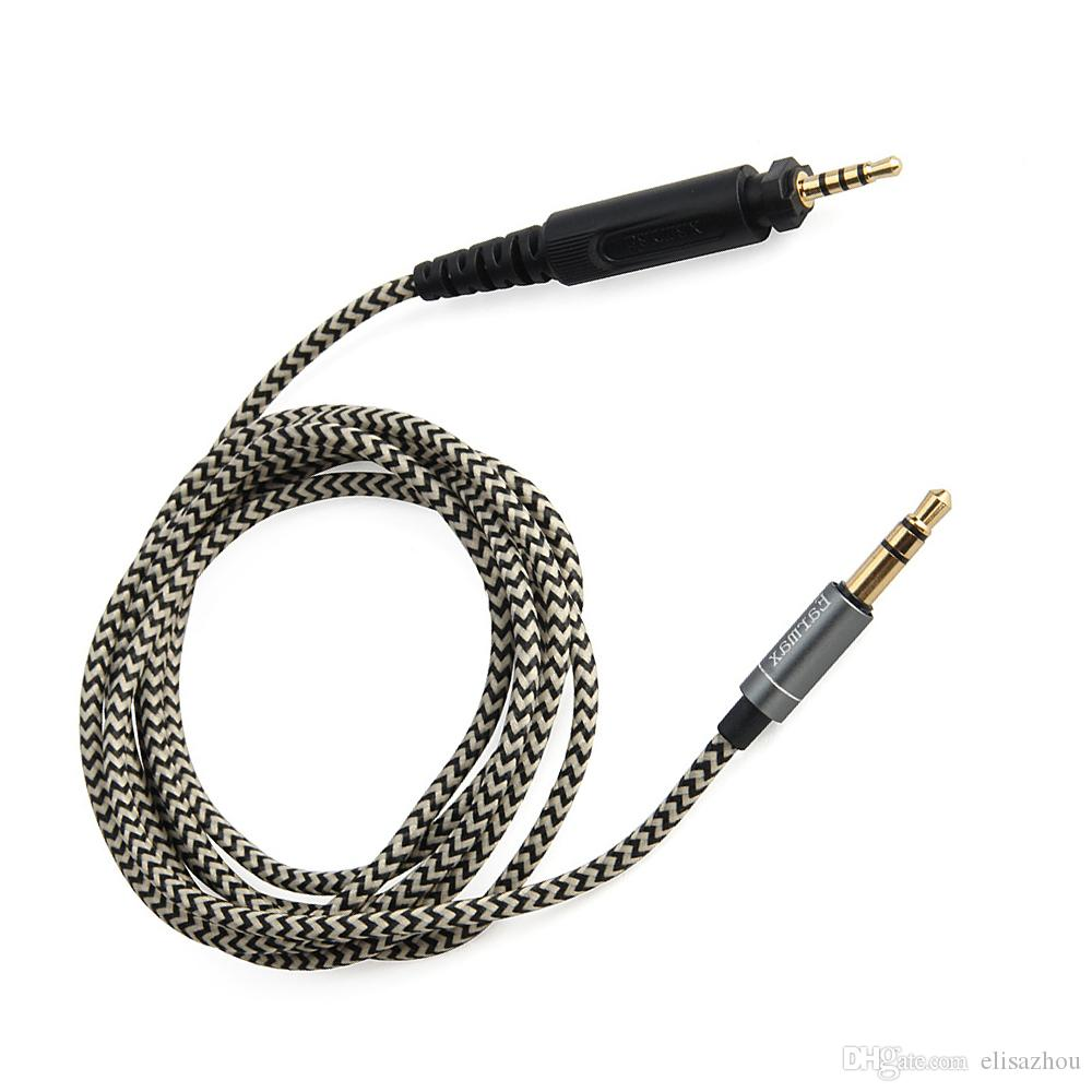 medium resolution of 2019 audio cable earphone cable cords braided wires replacement for over ear headphone shure srh440 srh840 srh940 dj750 headset from elisazhou