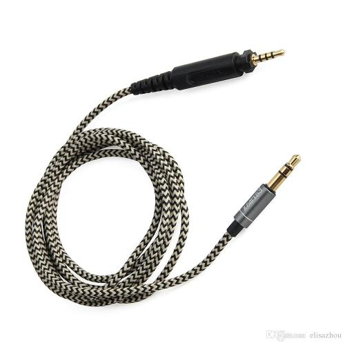 small resolution of 2019 audio cable earphone cable cords braided wires replacement for over ear headphone shure srh440 srh840 srh940 dj750 headset from elisazhou