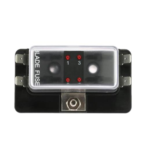 small resolution of 2019 4 way blade fuse box holder with led warning light kit for car boat marine trike 12v 24v from renhuai888 23 13 dhgate com