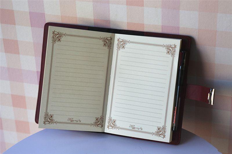 vintage a5 notebook faux