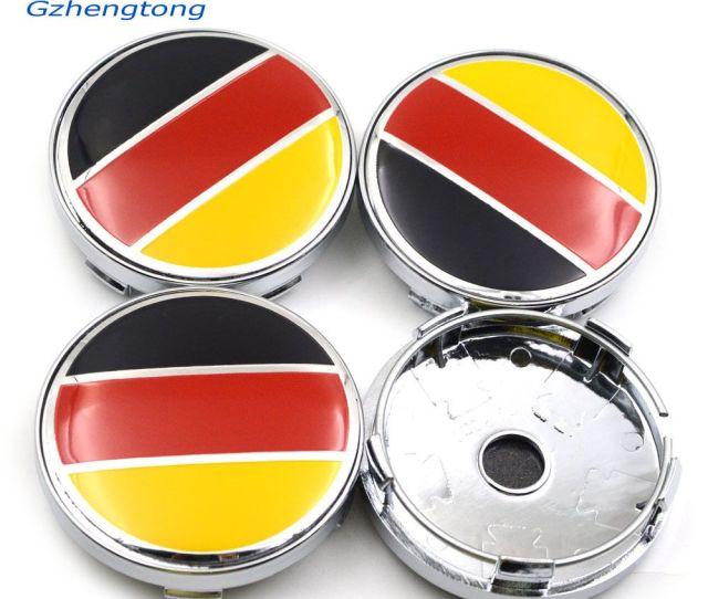 Gzhengtong Sliver Caps Mm Car Emblem Wheel Hub Caps Centre Cover Caps Germany Flag Logo For Abarth  Automotive Badges Automotive Badges Emblems From