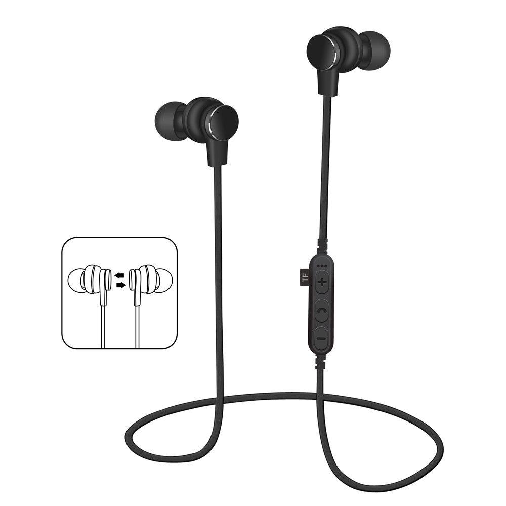 MS T1 Bluetooth Earphone Wireless Magnet Headphones For