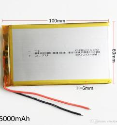 model 6060100 3 7v 5000mah lithium polymer li po rechargeable battery for dvd pad mobile phone gps power bank camera e books recoder tv box pp3 battery the  [ 950 x 950 Pixel ]