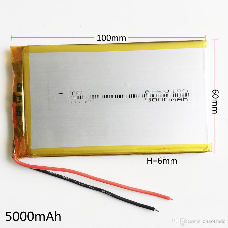 hight resolution of model 6060100 3 7v 5000mah lithium polymer li po rechargeable battery for dvd pad mobile phone gps power bank camera e books recoder tv box pp3 battery the